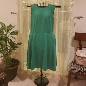 Green Fit and Flare Dress